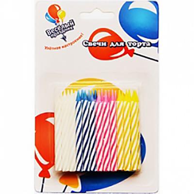 Свечи-мини 2-х цветные 24шт 6см
