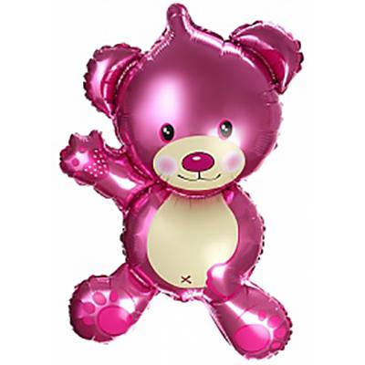 Шар (32»/81 см) Фигура, Плюшевый мишка, Розовый