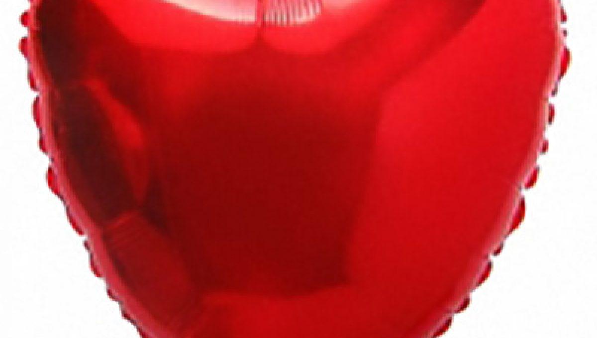 Шар Сердце, Красный, (32»/81 см)