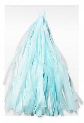 Гирлянда Тассел, Светло-голубая, 3 м, 12 Кисточек
