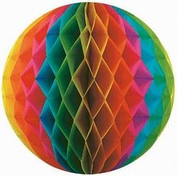Шар бумажный Разноцветный (10″/25 см)