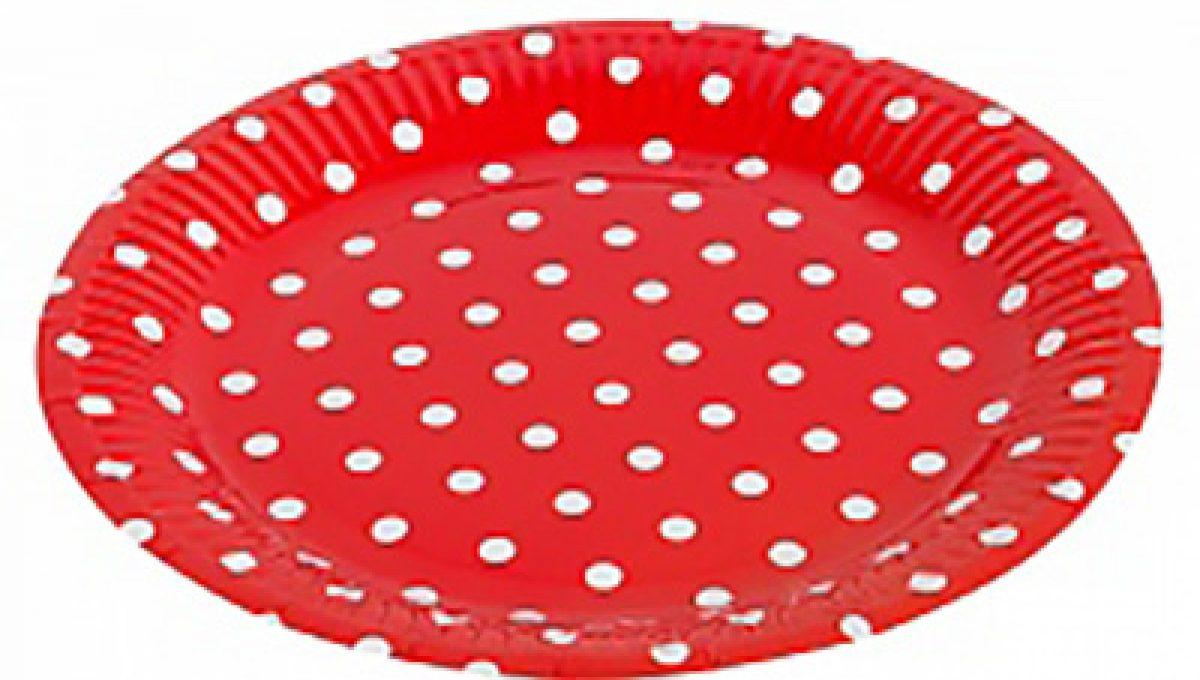"Тарелка «Красные точки» 7"", 6шт"