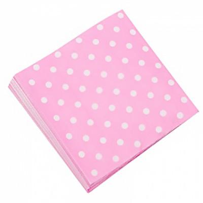 Салфетки Розовые точки, 32*32см, 20шт