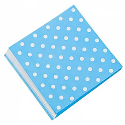Салфетки Голубые точки, 32*32см, 20шт.