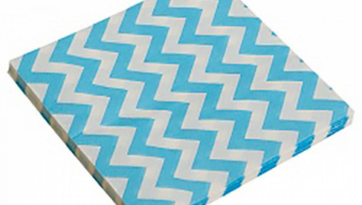 Салфетки, Голубые зигзаги, 32х32см, 20шт