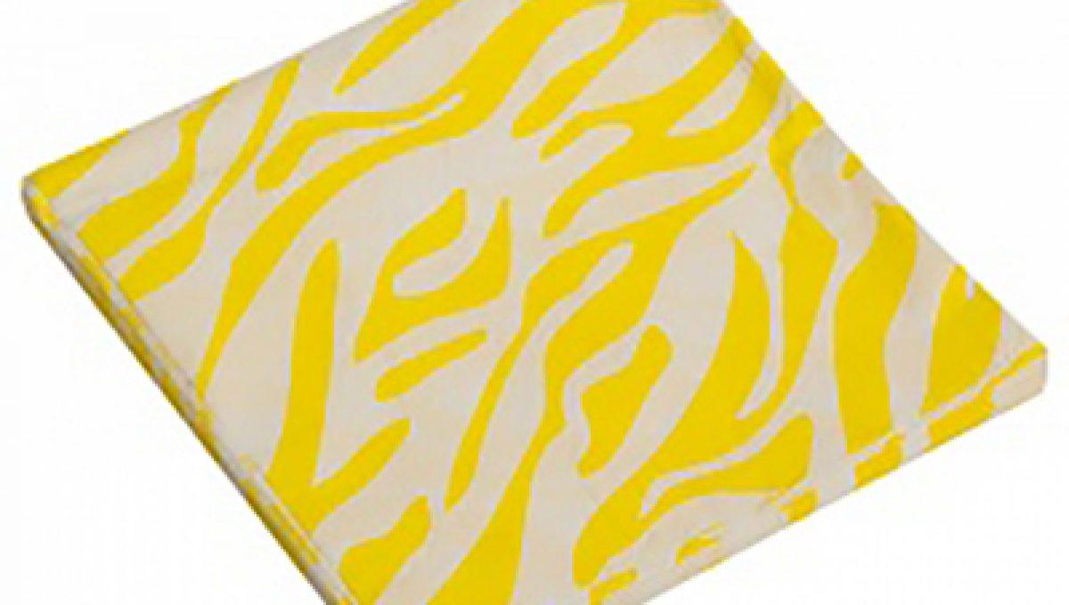 Салфетки, Окрас зебры, желтый, 32х32см, 20шт
