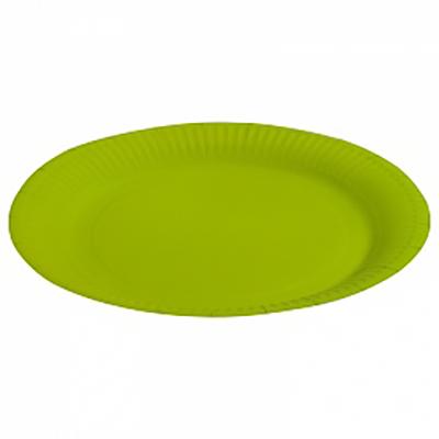 """Тарелка однотонная, зеленый, 9"""", 6шт"""