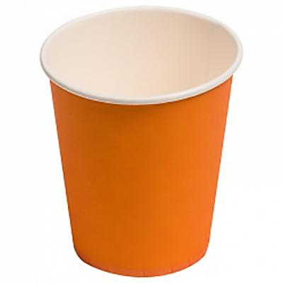 Стаканчики однотонные, оранжевый, 180мл, 6шт.