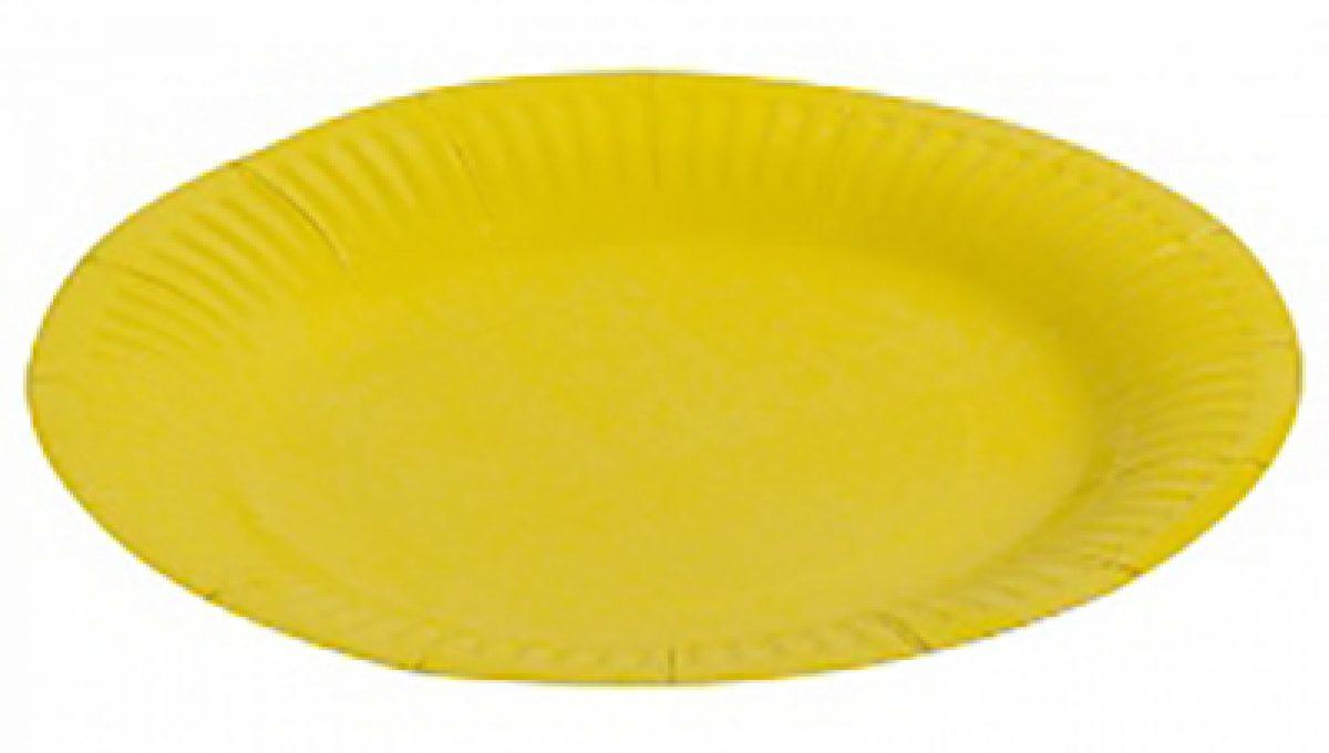 """Тарелка однотонная, желтый, 7"""", 6шт"""