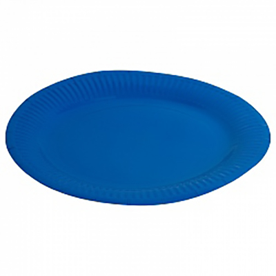 """Тарелка однотонная, синий, 9"""", 6шт"""