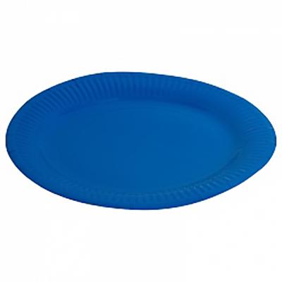 """Тарелка однотонная, синий, 7"""", 6шт"""
