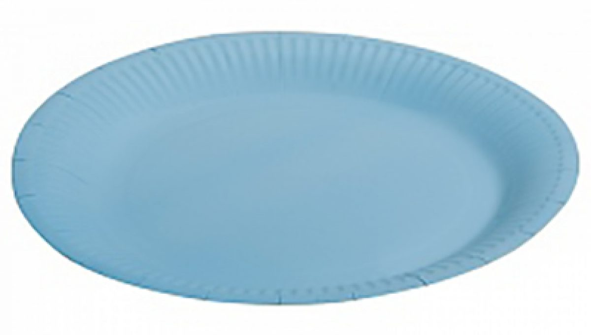 "Тарелка однотонная, голубой, 9"", 6шт"