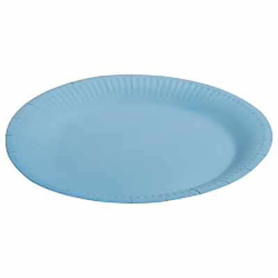 "Тарелка однотонная, голубой, 7"", 6шт"