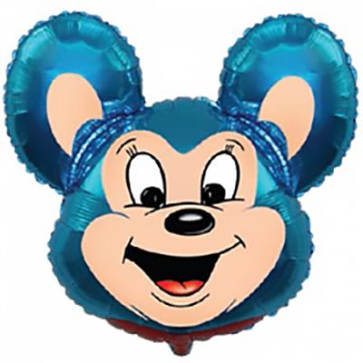 Шар Могучая мышь, Синий (30»/76 см)