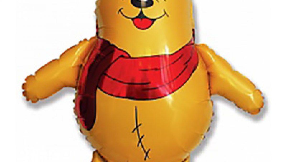 Шар Медвежонок, Желтый (34»/86 см)