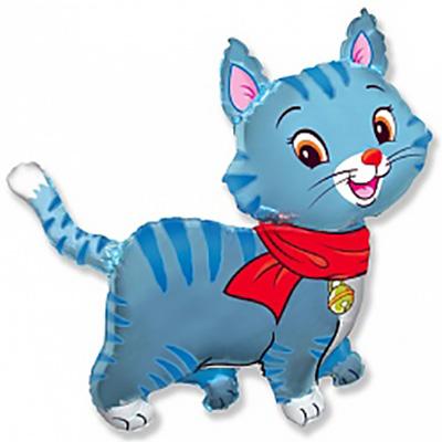 Шар Любимый котенок, Синий (32»/81 см)