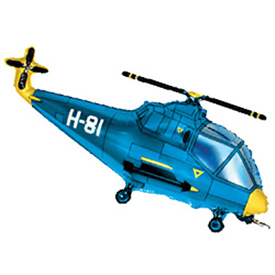 Шар Вертолет, Синий (39»/99 см)