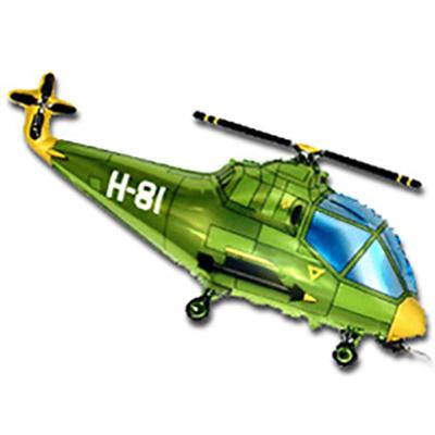 Шар Вертолет, Зеленый (39»/99 см)