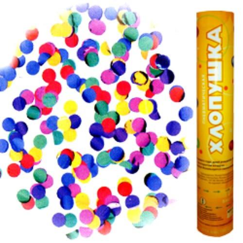 Пневмохлопушка (12»/30 см) Металлизированные круги разноцветные