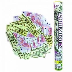 Пневмохлопушка (16»/40 см) Доллары и Евро