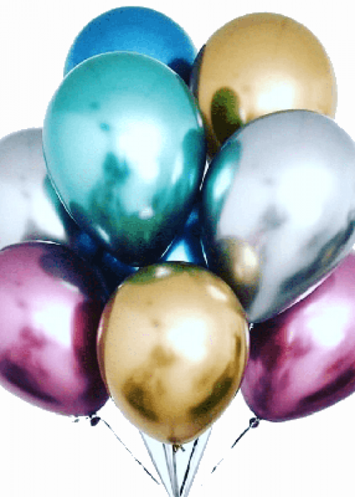 """ХИТ!!! Облако хромированных шаров (12""""/30 см) 20 шт."""