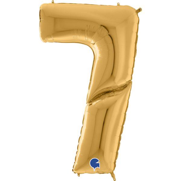 Шар (64″/163см) Цифра 7, Золото, 1шт.