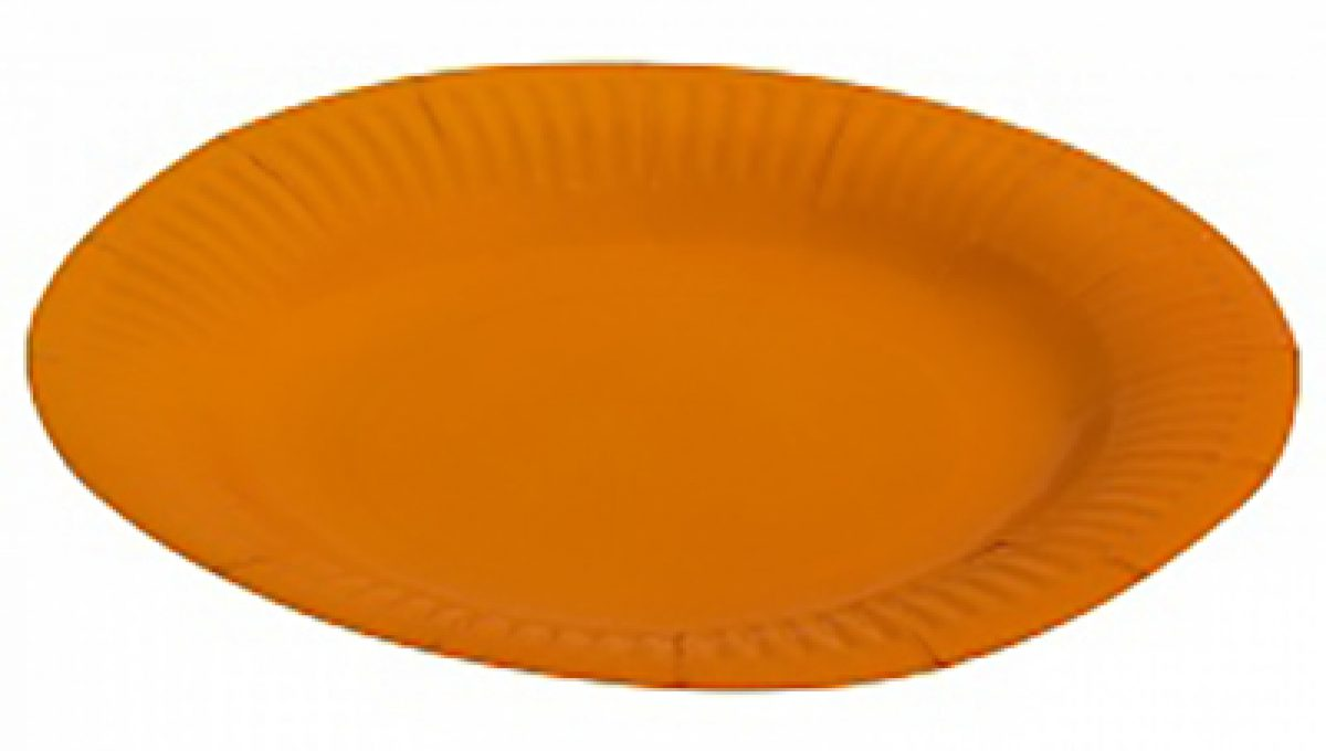 "Тарелка однотонная, оранжевый, 7"", 6шт"