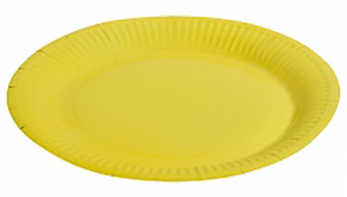 """Тарелка однотонная, желтый, 9"""", 6шт"""