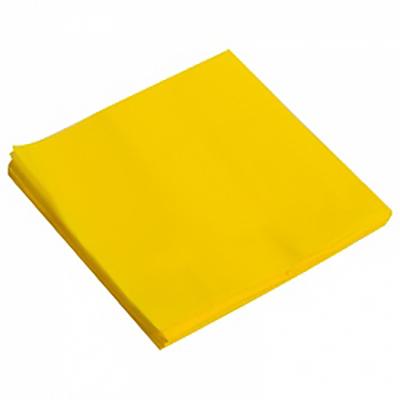Салфетки однотонные, желтый, 32х32см, 20шт