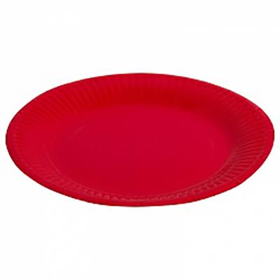 """Тарелка однотонная, красный, 7"""", 6шт"""