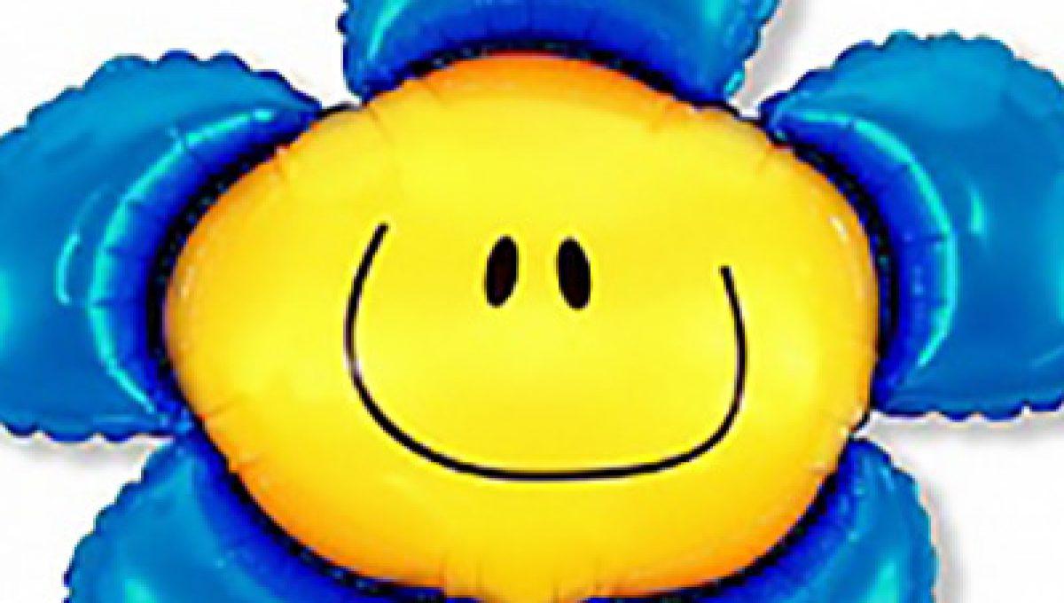 Шар (41»/104 см) Фигура, Солнечная улыбка, Синий