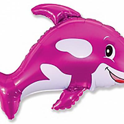 Шар (34»/86 см) Фигура, Веселый кит, Фуше