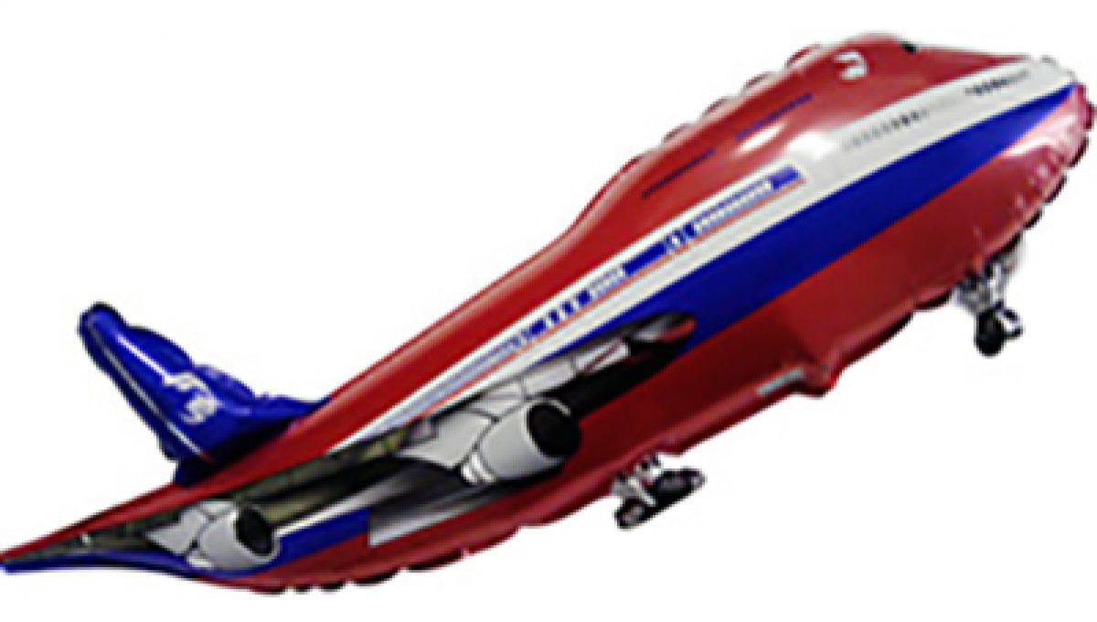 Шар Самолет, Красный (40»/102 см)