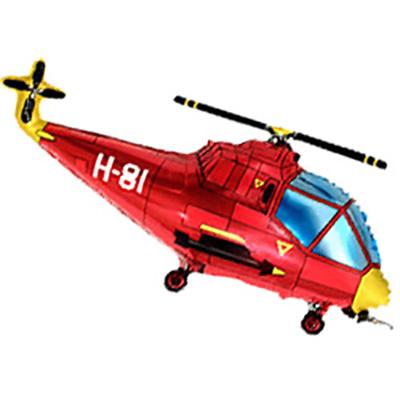 Шар Вертолет, Красный (39»/99 см)