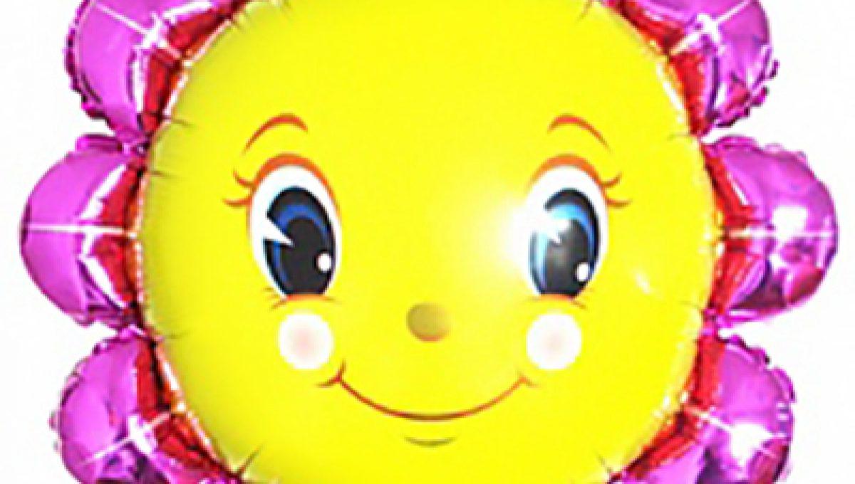 Шар (28»/71 см) Фигура, Солнышко желтое