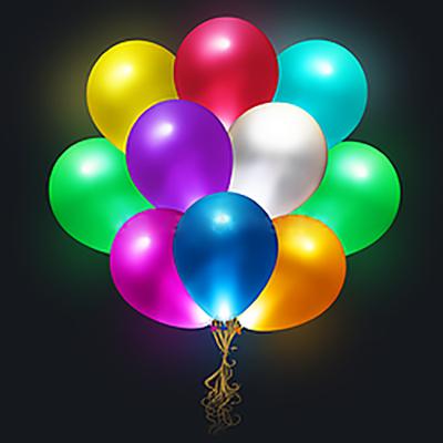 """Светящиеся шары ассорти. 15 шт.12""""/30см"""