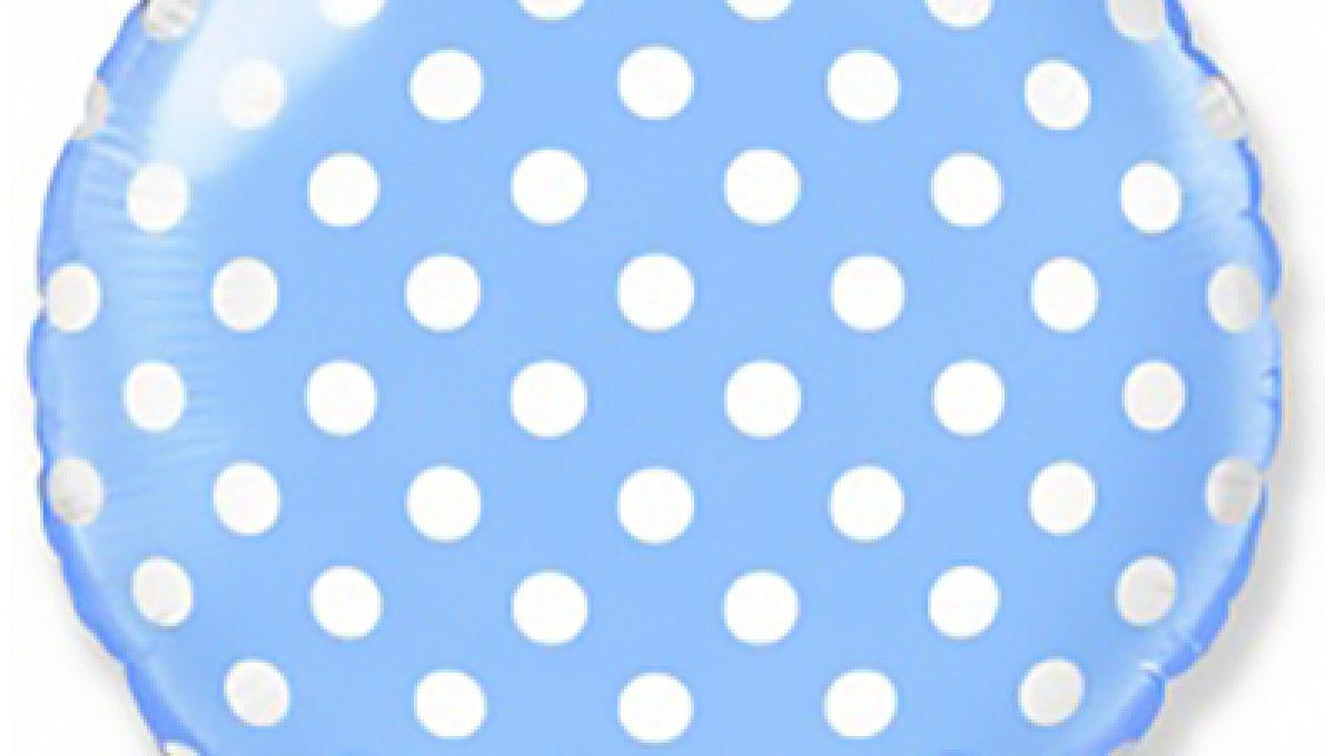 Шар (18»/46 см) Круг, Точки, Голубой