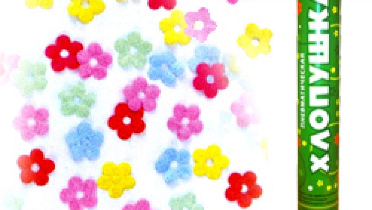 Пневмохлопушка (16»/40 см) Метализированные цветы