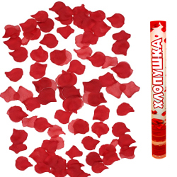 Пневмохлопушка (16»/40 см) Лепестки роз Красные