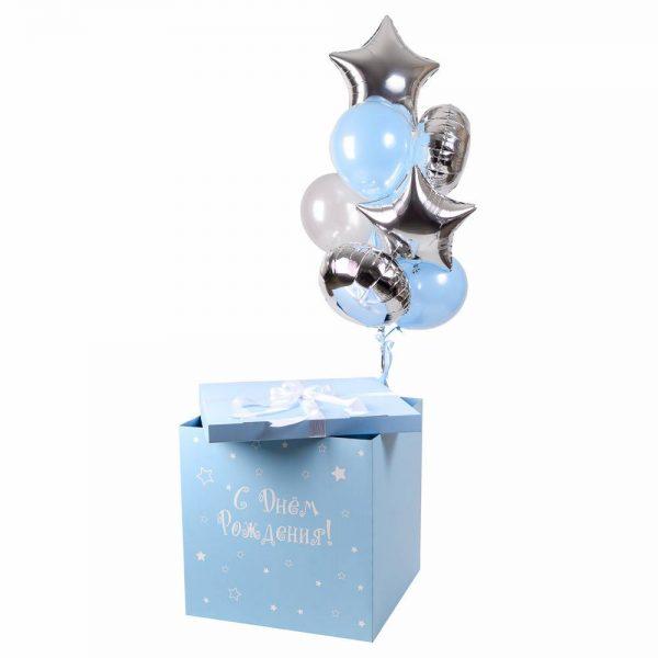 Коробка-сюрприз с воздушными шарами Малышу.
