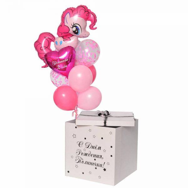 Коробка-сюрприз с воздушными шарами Pinky Pay.